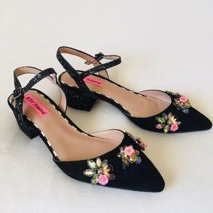 Betsy Johnson sparkly stones Heels